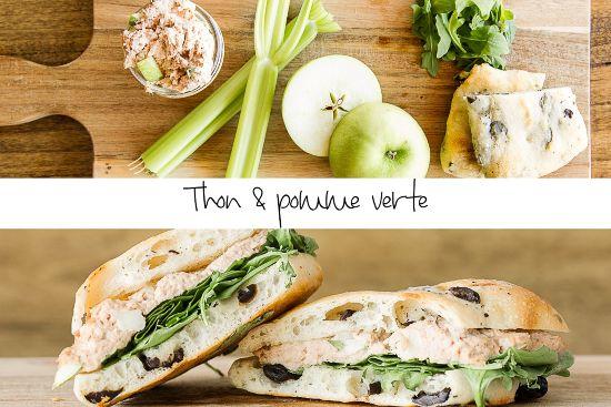sandwich ciabatta thon et pommes vertes
